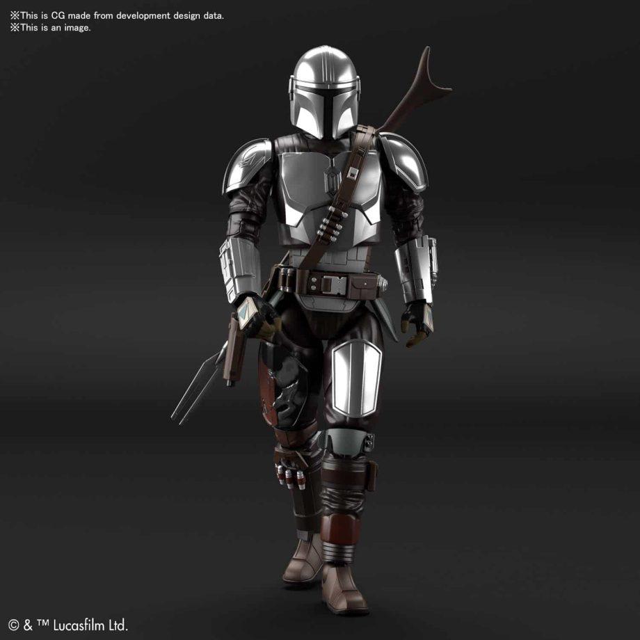 1/12 Beskar Armor Model Kit Silver Coating Ver. Pose 1