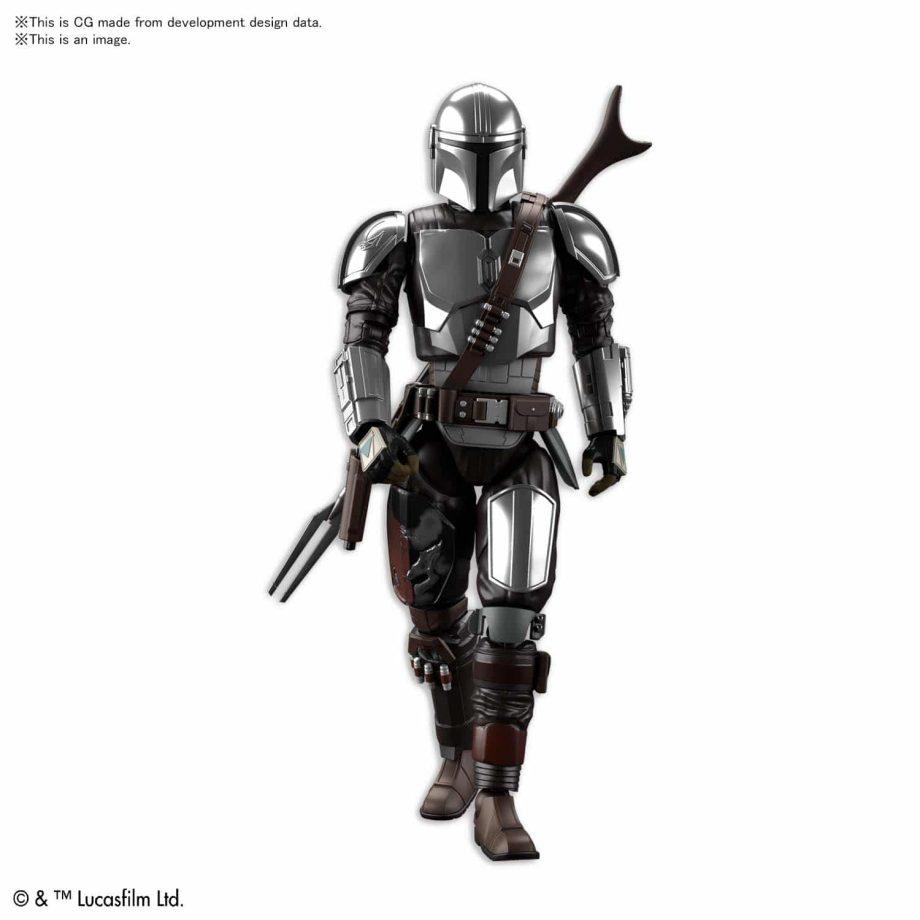 1/12 Beskar Armor Model Kit Silver Coating Ver. Pose 2