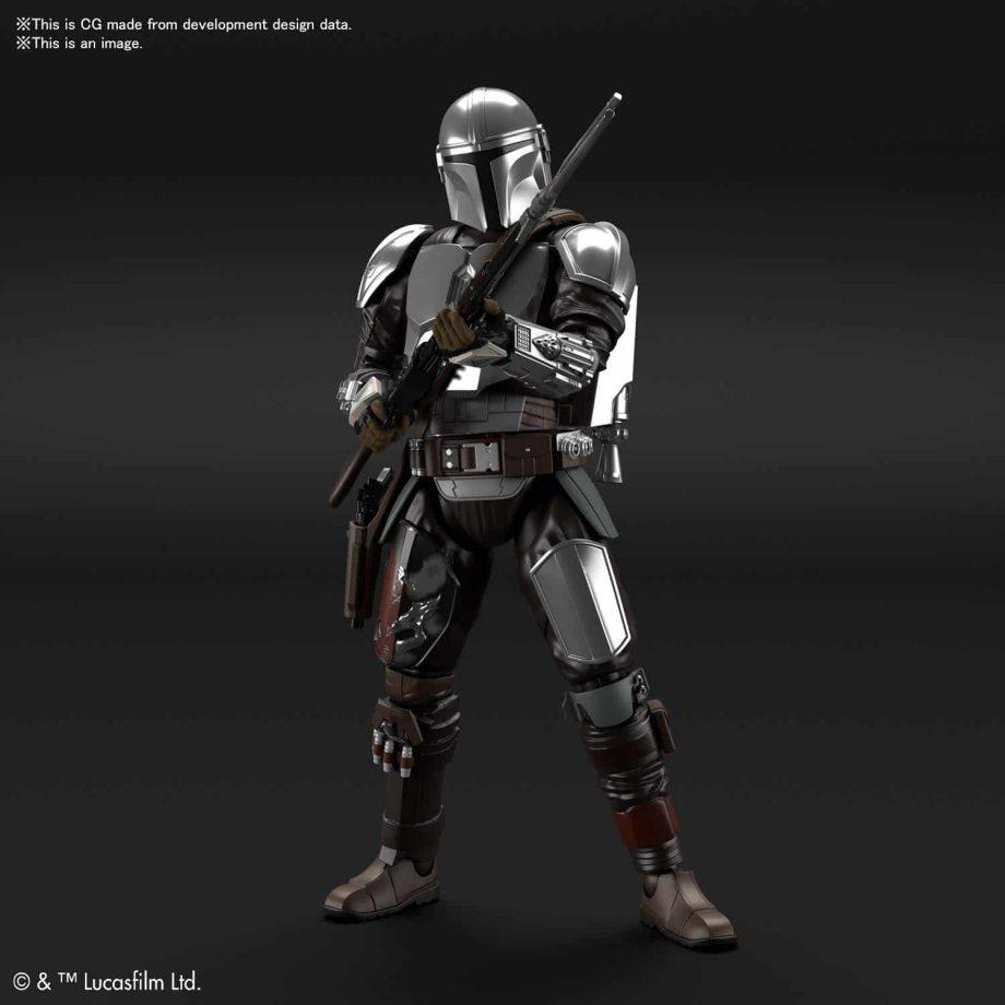 1/12 Beskar Armor Model Kit Silver Coating Ver. Pose 3