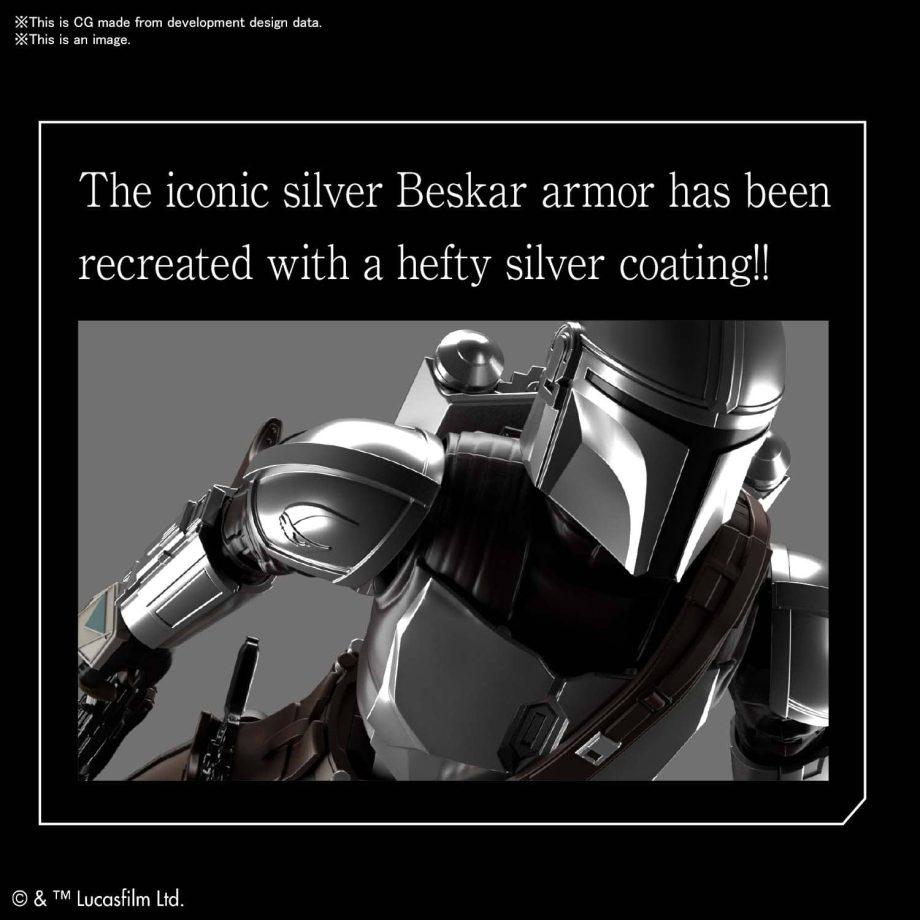 1/12 Beskar Armor Model Kit Silver Coating Ver. Pose 4