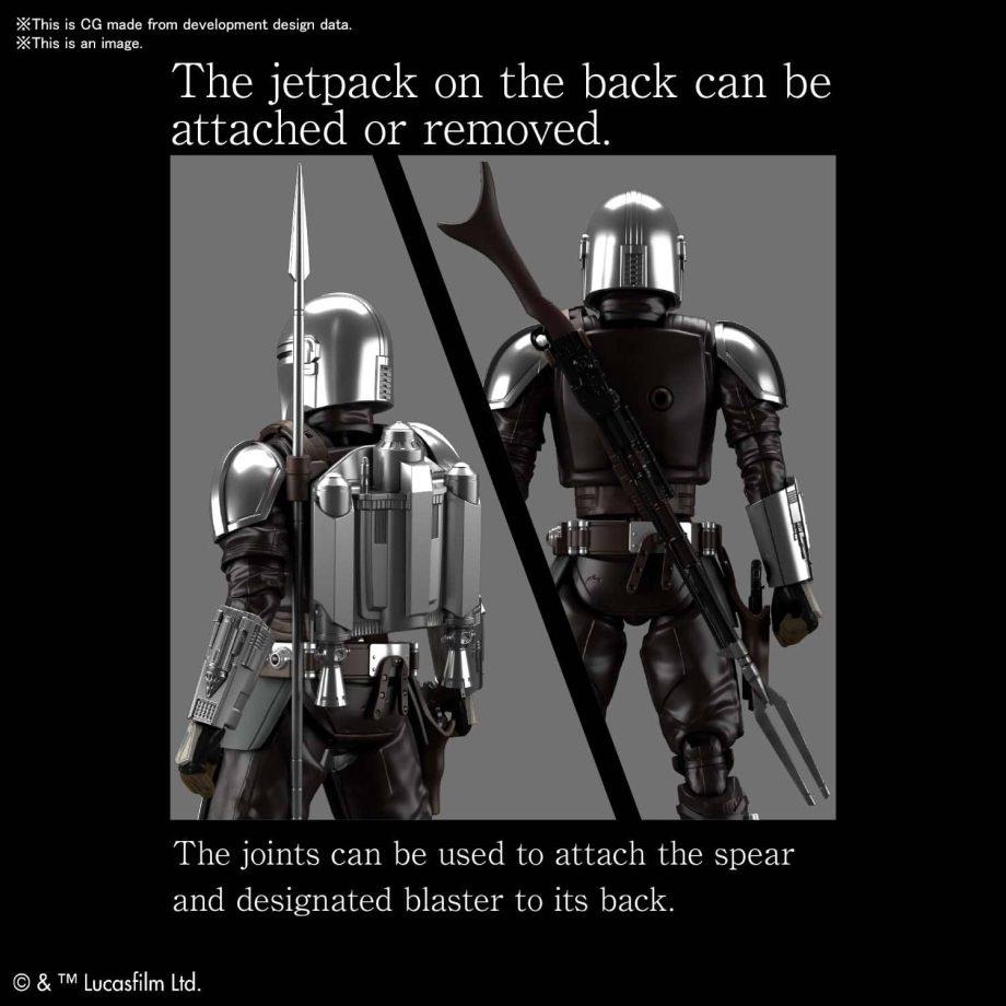 1/12 Beskar Armor Model Kit Silver Coating Ver. Pose 5