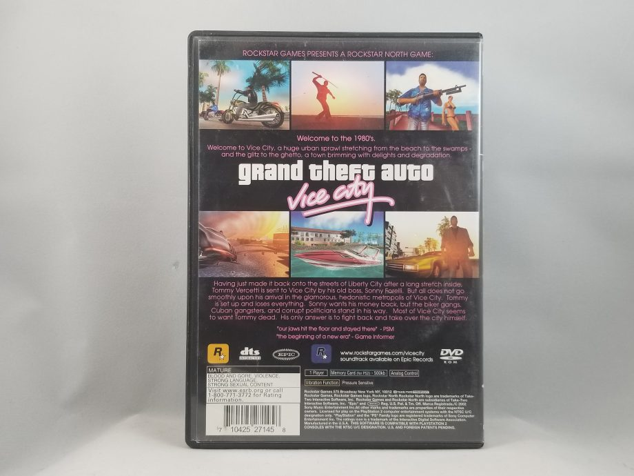 Grand Theft Auto Vice City Back