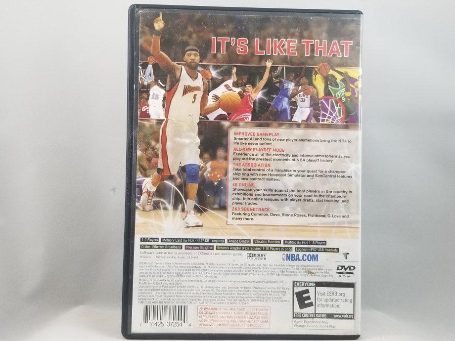 NBA 2K8 Back