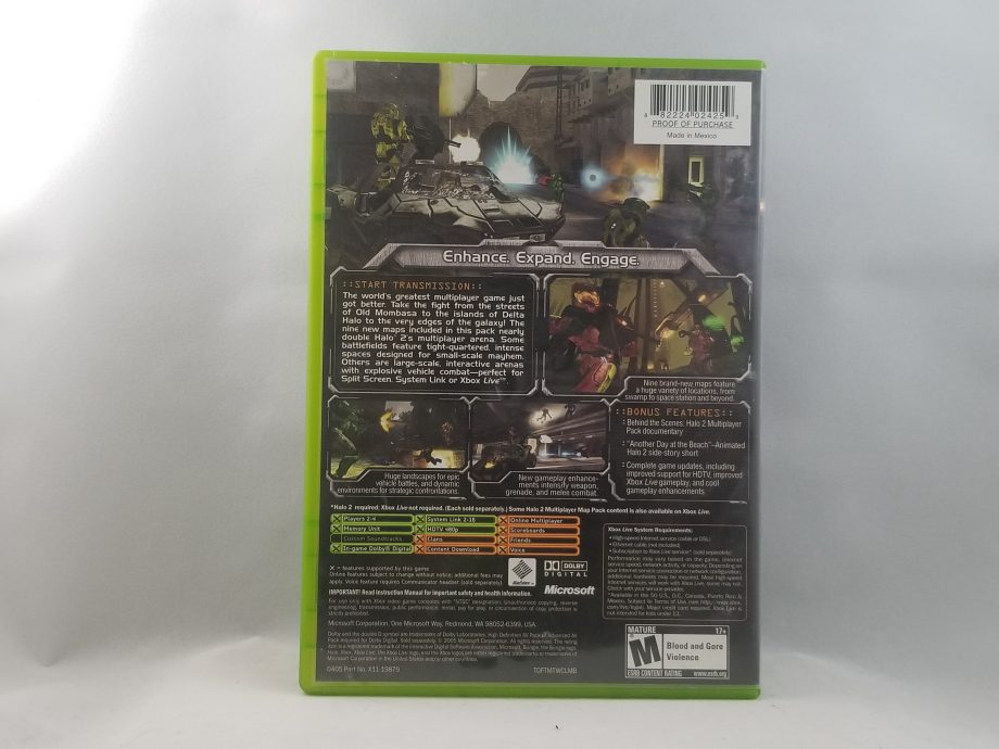 Halo 2 Multiplayer Map Pack Back