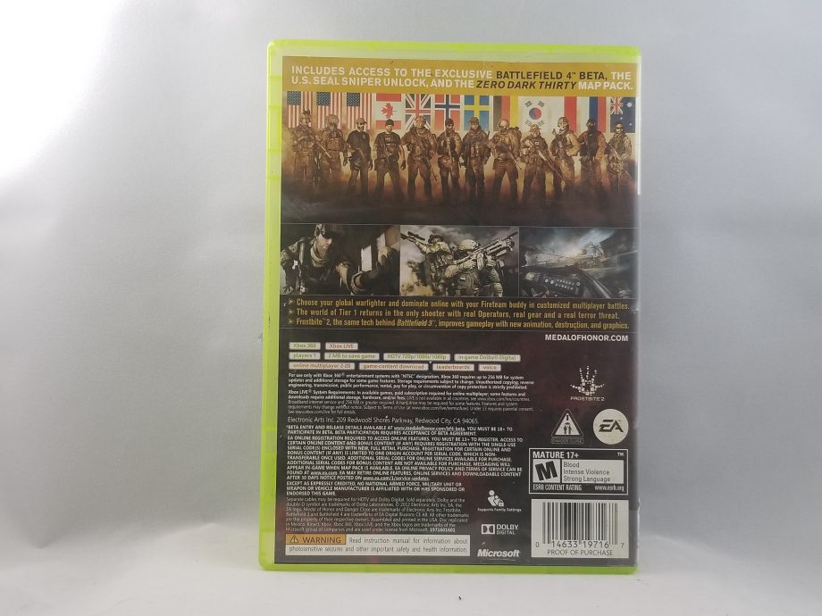 Medal Of Honor Warfighter Back