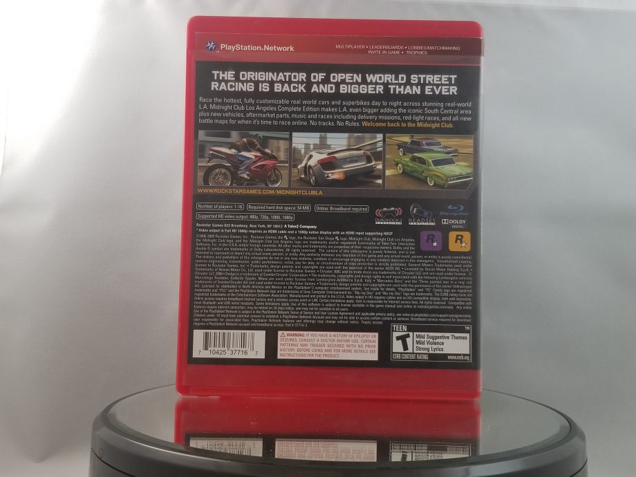 Midnight Club Los Angeles Complete Edition Back