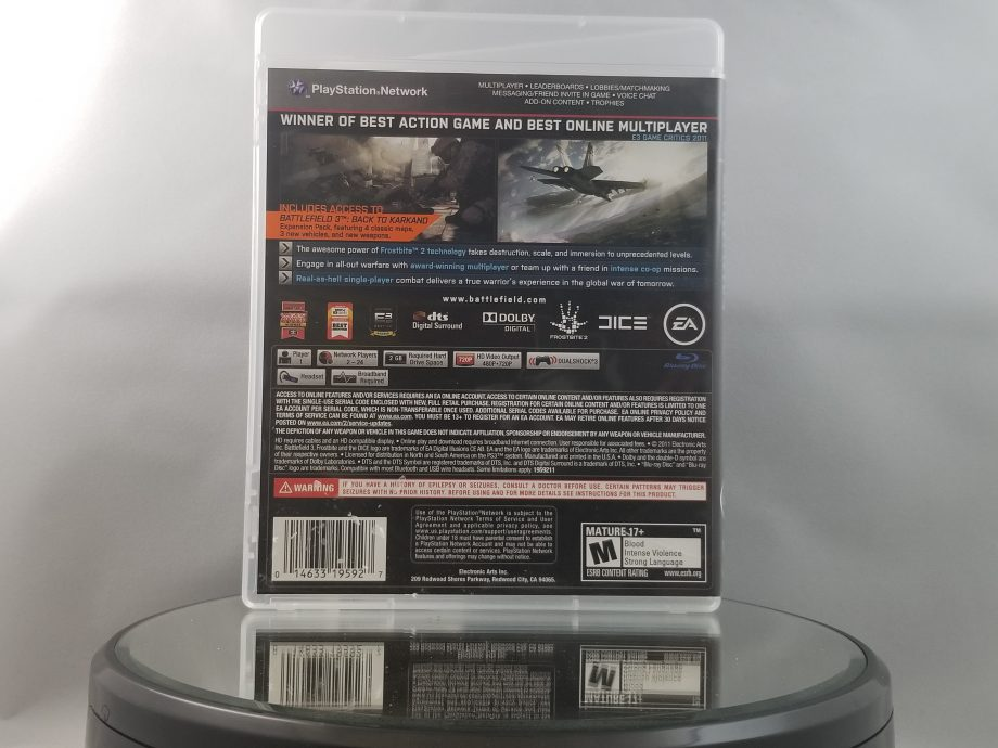 Battlefield 3 Limited Edition Back