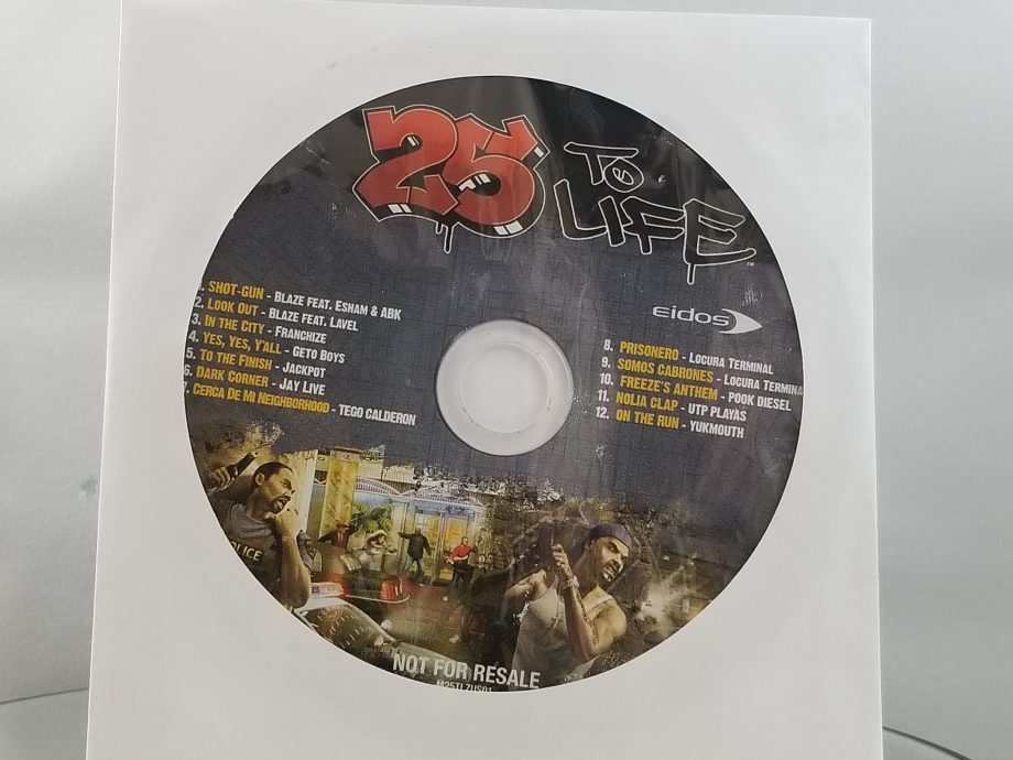 25 To Life Disc 2