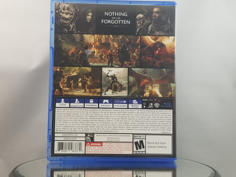Middle Earth Shadow Of War Back