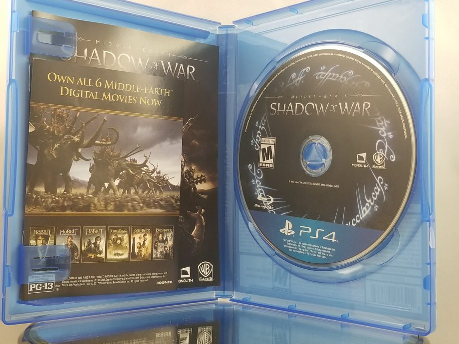 Middle Earth Shadow Of War Disc