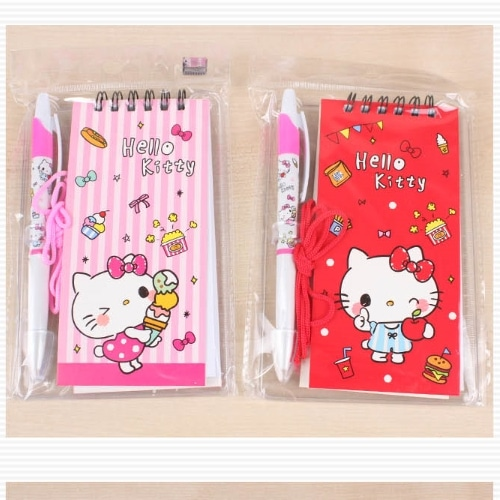 Hello Kitty Plus Data Memo Notepad and Pen