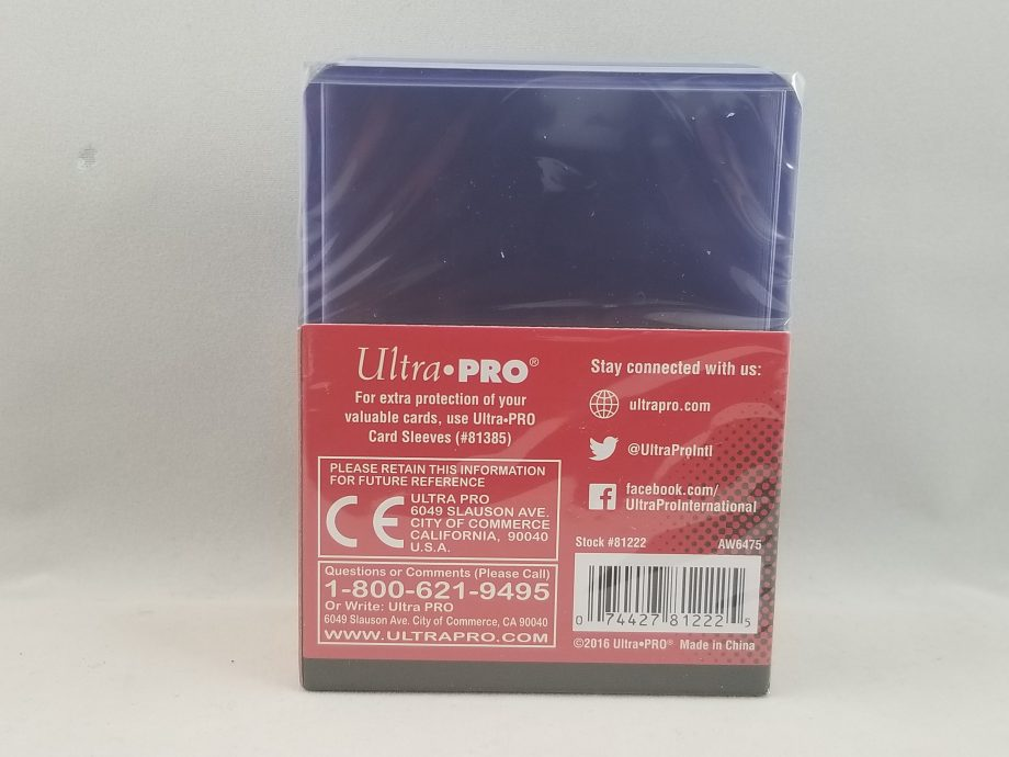 Ultra Pro Regular Top Loader 3 x 4 Back
