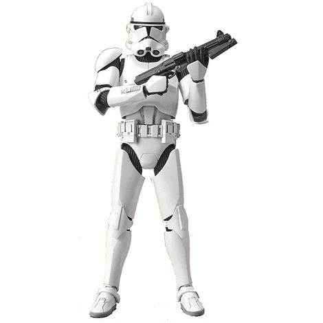 1/12 Clone Trooper Model Kit Pose 1