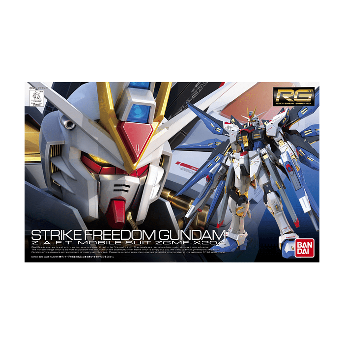 Real Grade Strike Freedom Gundam Box