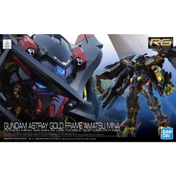 Real Grade Gundam Astray Gold Frame Amatsu Mina Box