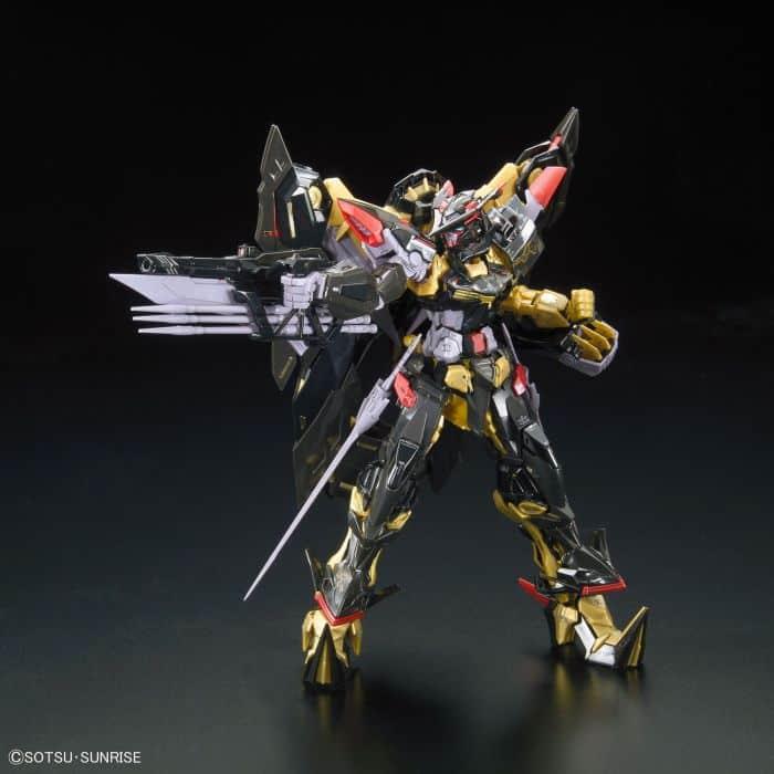 Real Grade Gundam Astray Gold Frame Amatsu Mina Pose 2