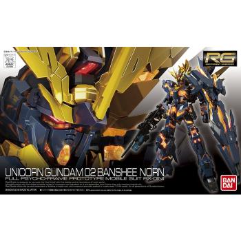 Real Grade Unicorn Gundam 02 Banshee Norn Box