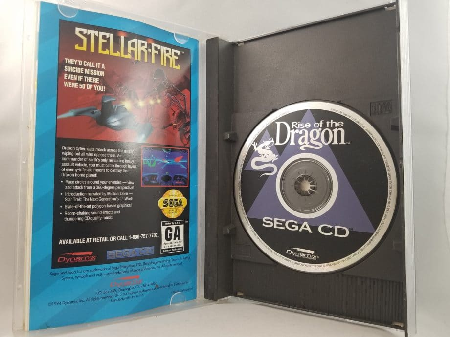 Rise Of The Dragon Disc