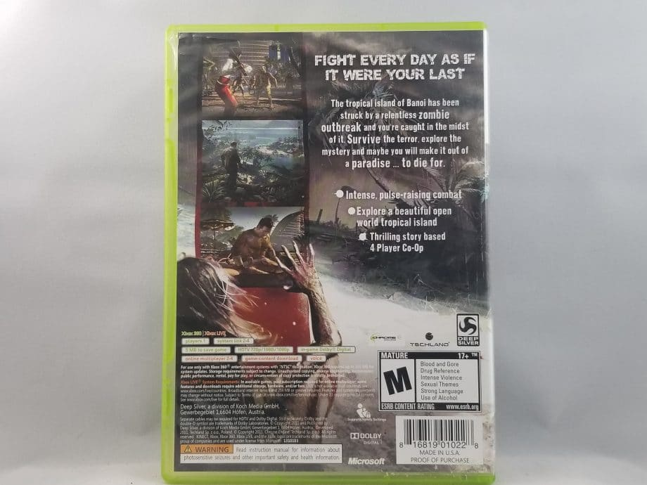 Dead Island Game Of The Year Edition Back