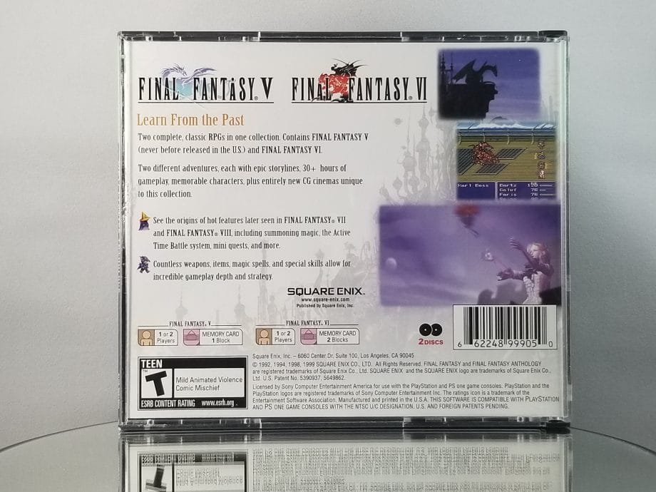 Final Fantasy Anthology Back