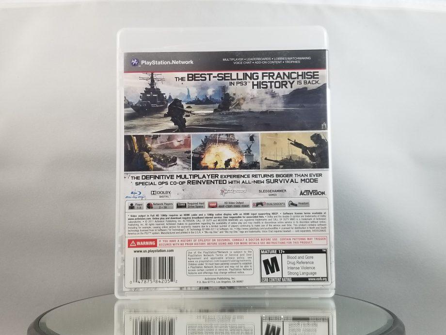 Call Of Duty Modern Warfare 3 Back
