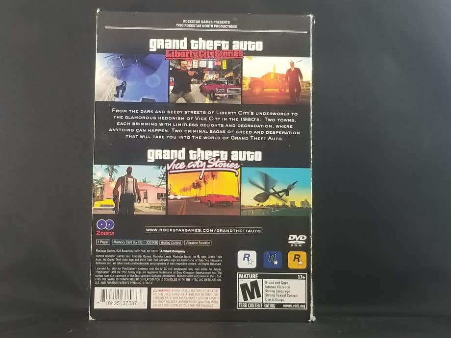 Grand Theft Auto Stories Double Pack Liberty City Stories & Vice City Stories Back