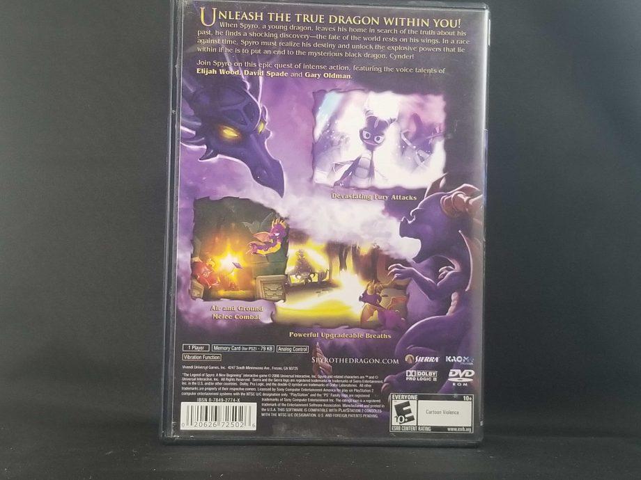 Legend Of Spyro A New Beginning Back