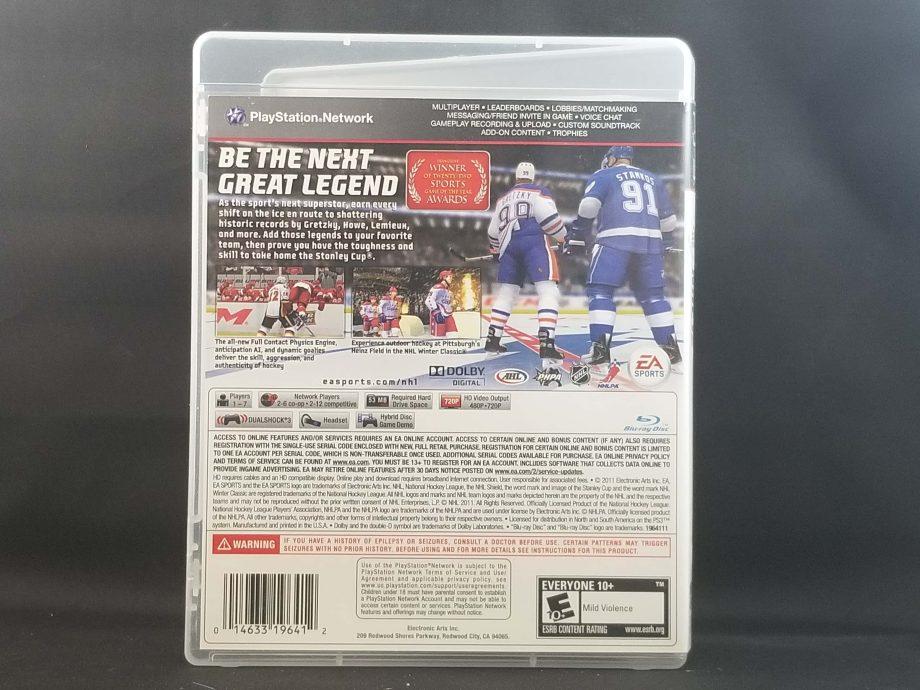 NHL 12 Back
