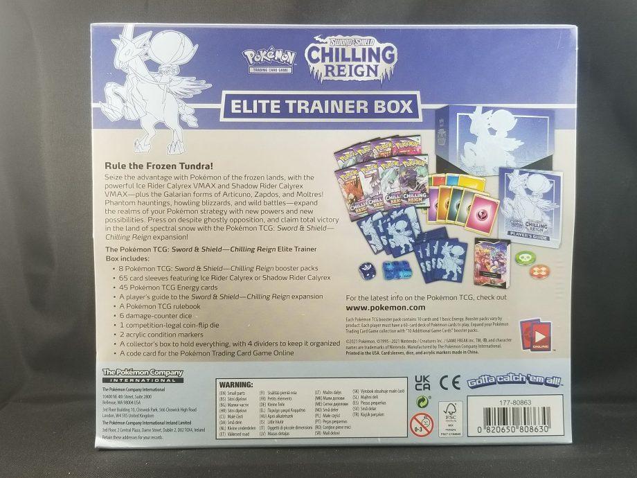 Pokemon TCG Sword And Shield Chilling Reign Elite Trainer Box Pose 4