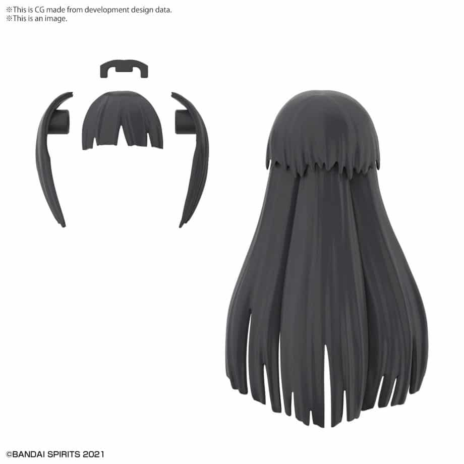 Option Hair Style Parts Volume 3 Black 2