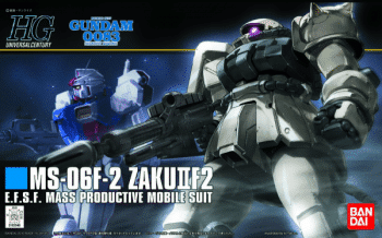 High Grade MS-06F-2 Zaku F2 Earth Federation Type Box