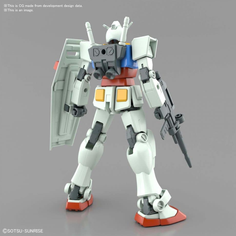 Entry Grade RX-78-2 Full Weapons Set Pose 2