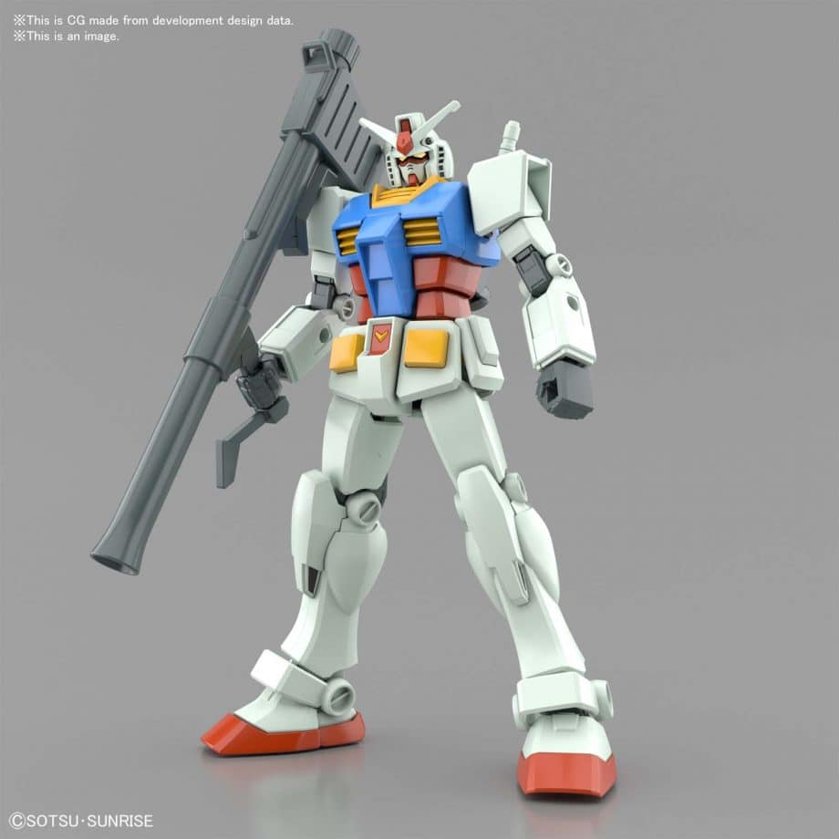 Entry Grade RX-78-2 Full Weapons Set Pose 3