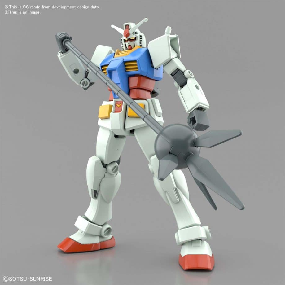 Entry Grade RX-78-2 Full Weapons Set Pose 4