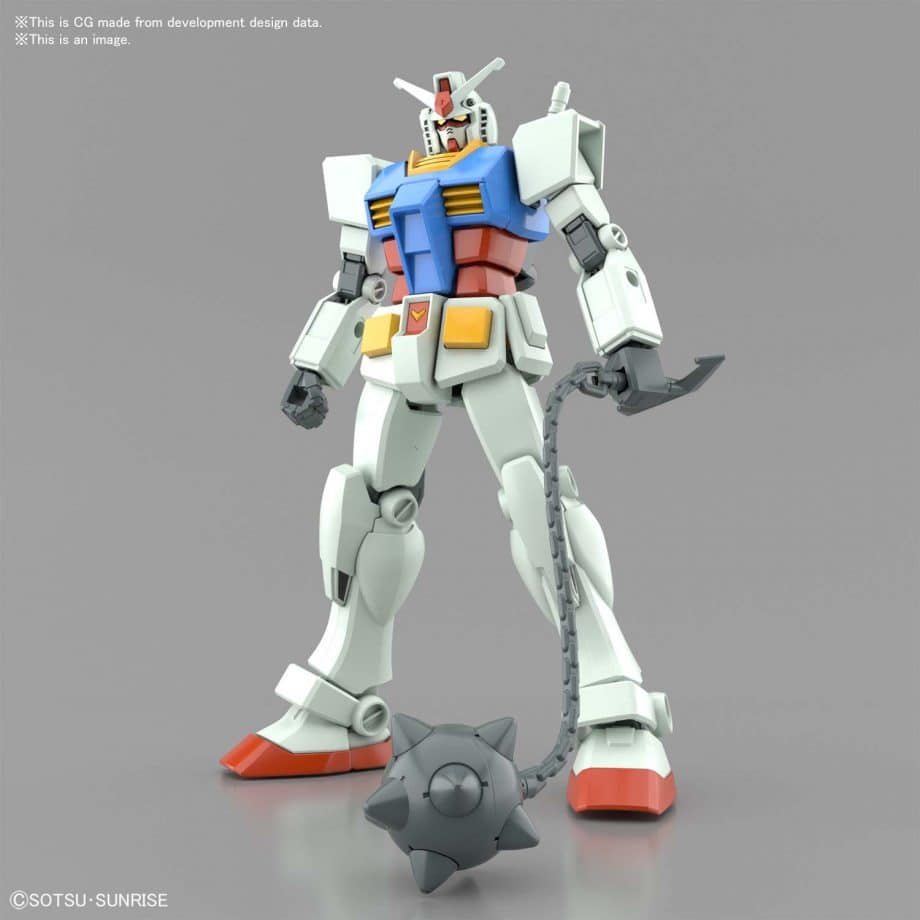 Entry Grade RX-78-2 Full Weapons Set Pose 5