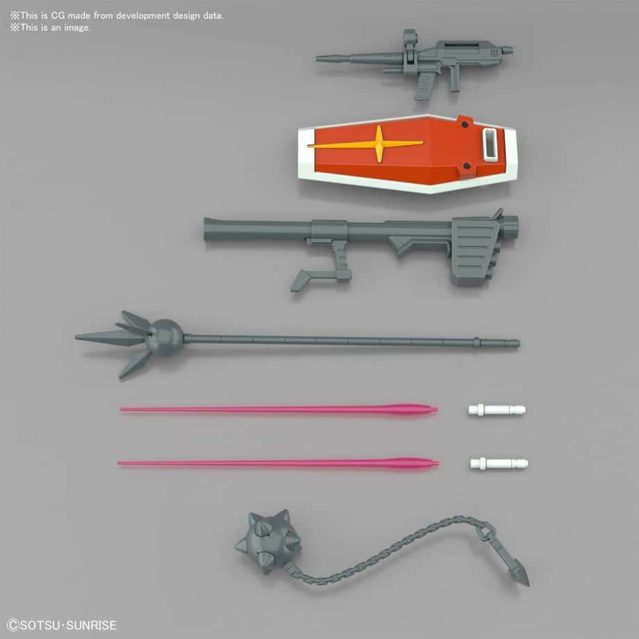 Entry Grade RX-78-2 Full Weapons Set Pose 6