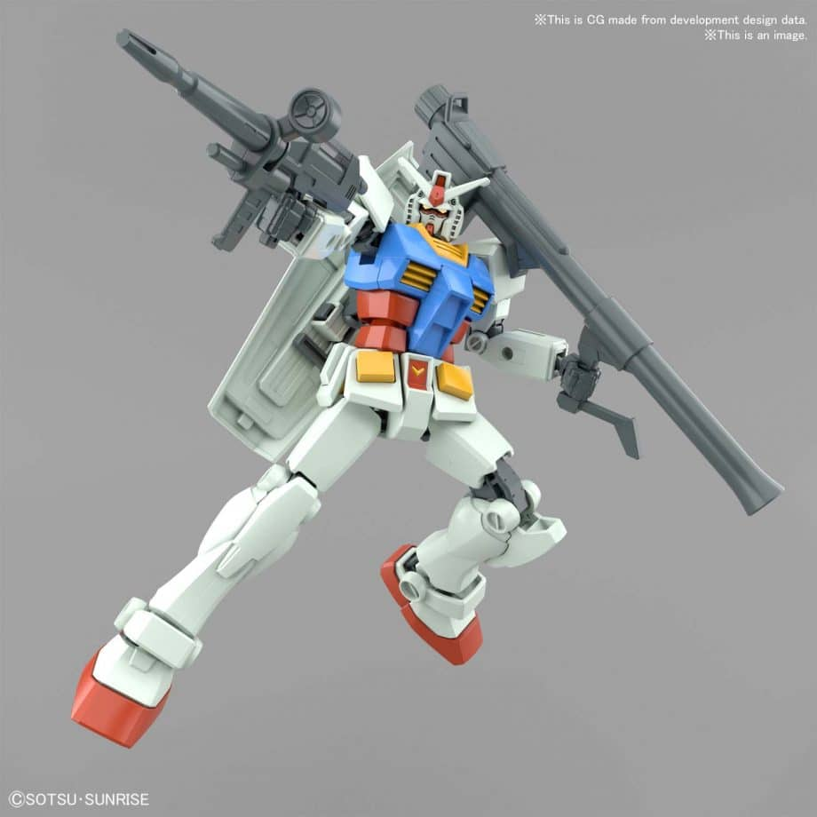 Entry Grade RX-78-2 Full Weapons Set Pose 7