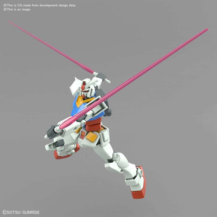 Entry Grade RX-78-2 Full Weapons Set Pose 8