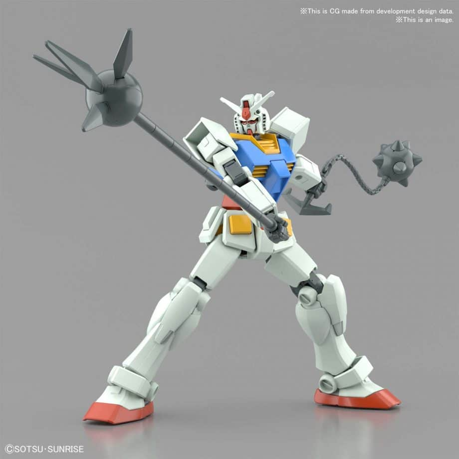 Entry Grade RX-78-2 Full Weapons Set Pose 9