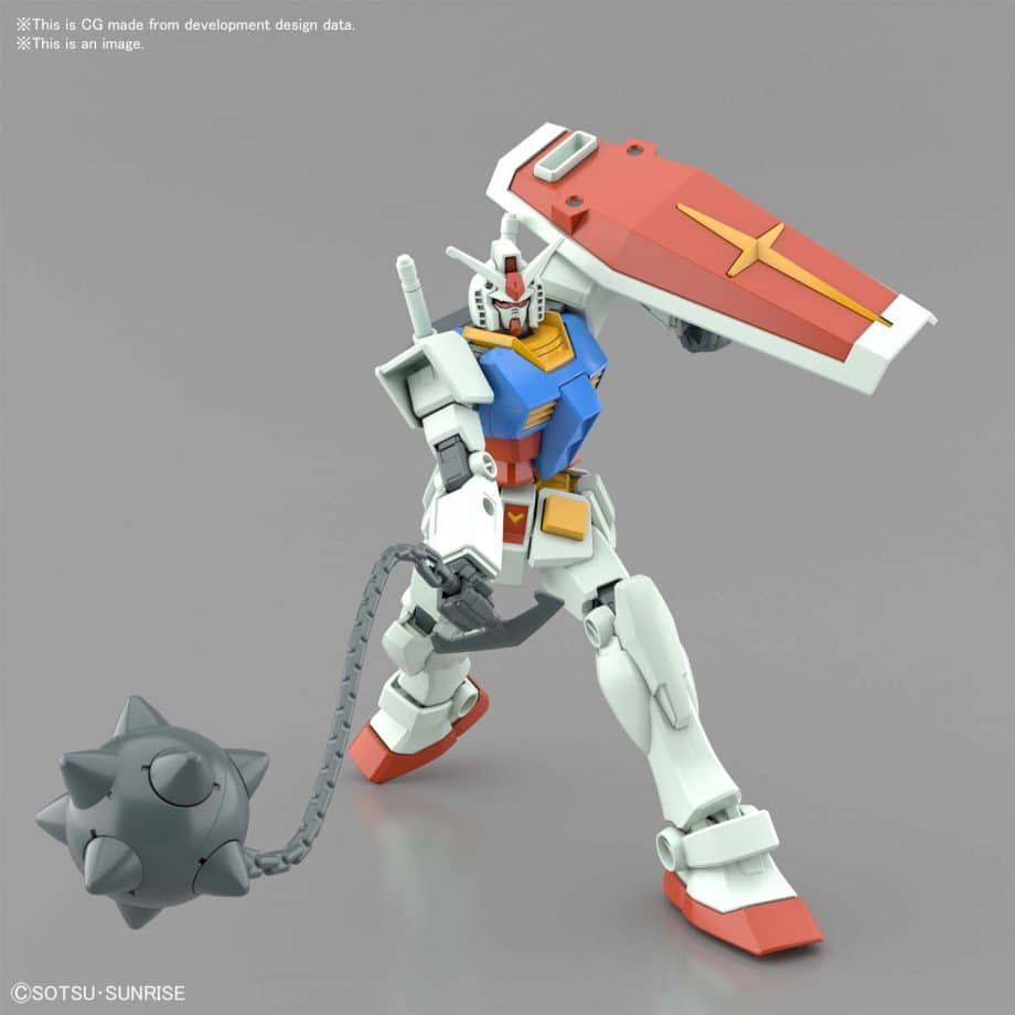 Entry Grade RX-78-2 Full Weapons Set Pose 10