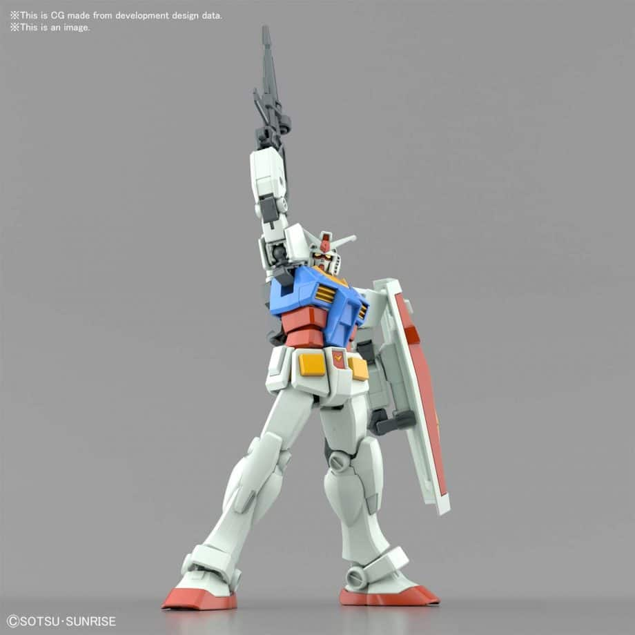 Entry Grade RX-78-2 Full Weapons Set Pose 11