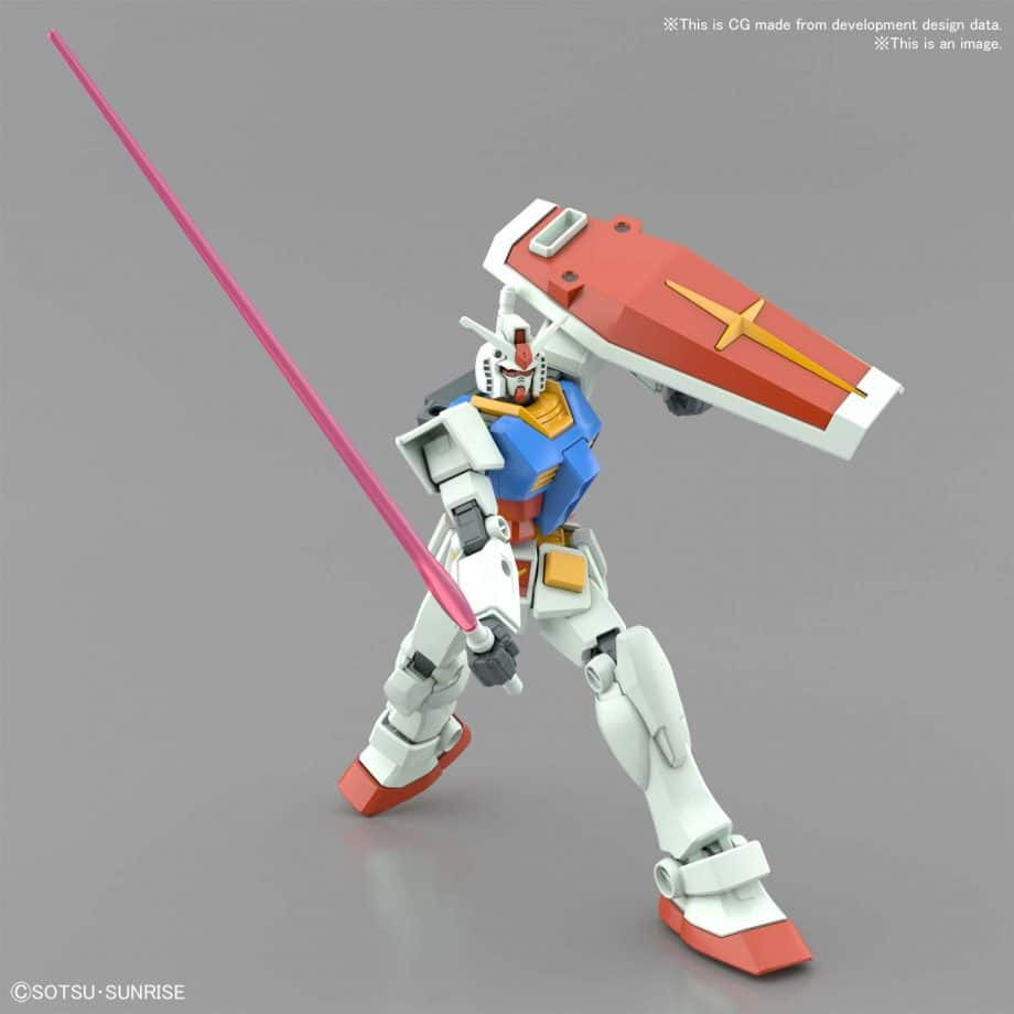 Entry Grade RX-78-2 Full Weapons Set Pose 12