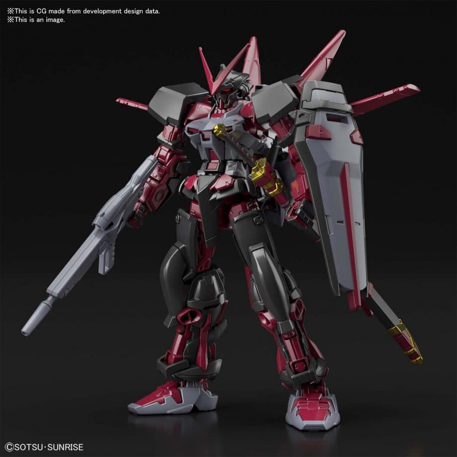 High Grade Gundam Astray Red Frame Inversion Pose 1