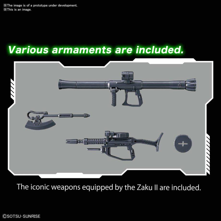 1/144 High Grade MS-06 Zaku II Pose 4