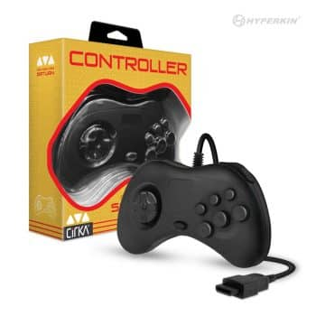 Cirka Black Controller for Sega Saturn