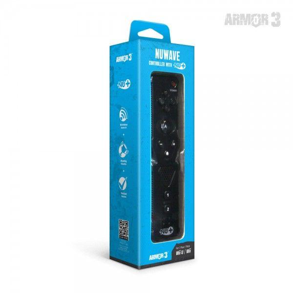 NuWave Black Controller with Nu+ for Wii