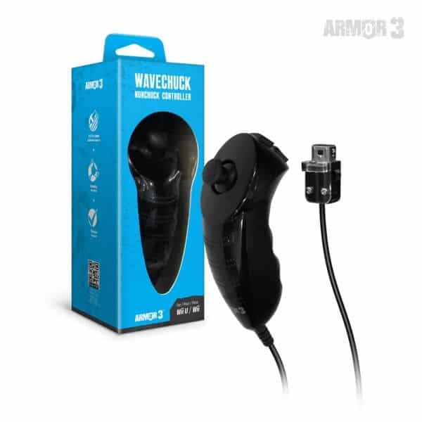 NuWave Black Nunchuck Controller with Nu+ for Wii