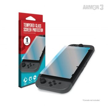 Listen up, grunts! If I see one scratch on that screen, you're out of here faster than a toupee in a hurricane! With Armor3's Tempered Glass Screen Protector for the Nintendo Switch®, you can make sure to keep your equipment spotless, scratch less, and combat ready. The enemy and your screen will be clear as day.