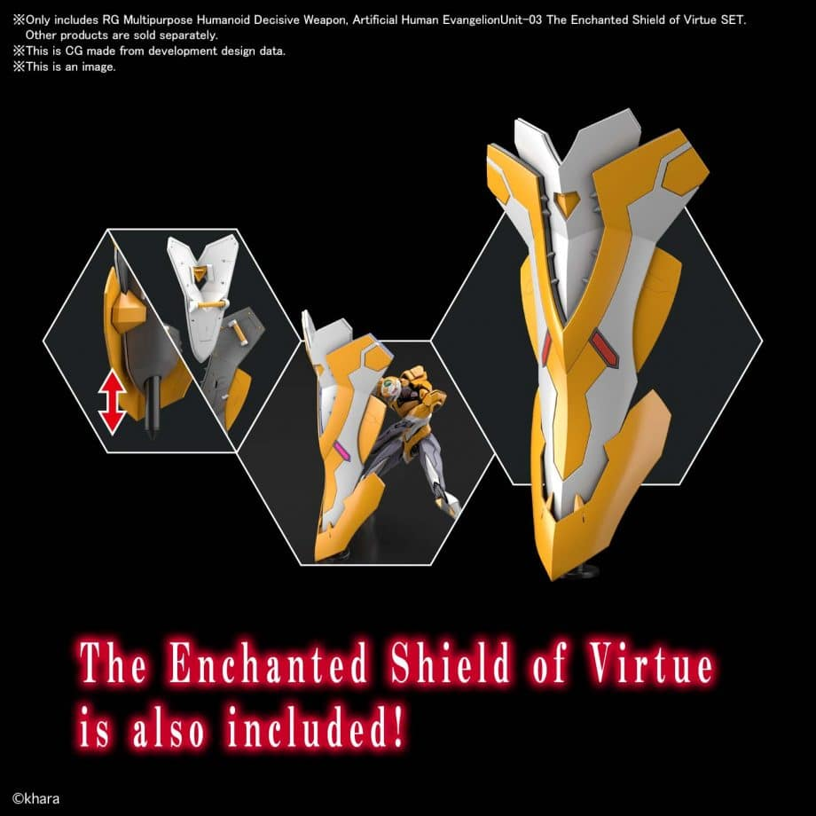 Real Grade Unit-03 The Enchanted Shield of Virtue Set Pose 5