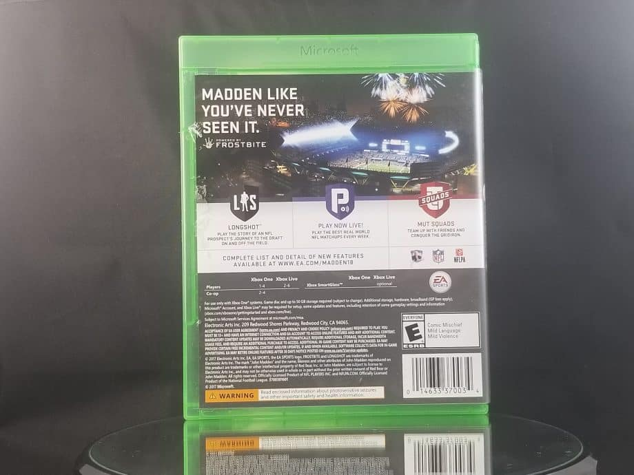 Madden NFL 18 Back